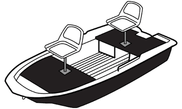 Illustration of a Jon Boat - Molded Hull Series
