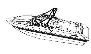 Line Art - V-Hull Runabout Boats/Modified V-Hull Boats Over-the-Tower Cover